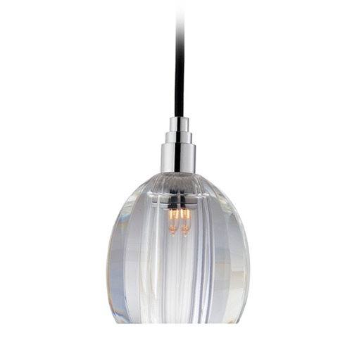 Hudson Valley Lighting Naples Chrome Mini-Pendant Light with Bowl Shade 3506-PC-B-004