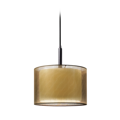 Sonneman Lighting Modern Mini-Pendant Light with Brown Shade 6008.51F