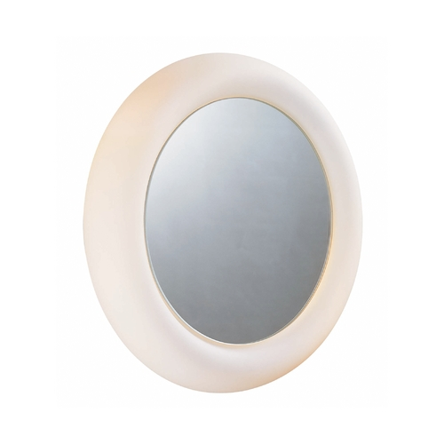 Lite Source Lighting Oki Round 16.5-Inch Illuminated Mirror LM-5105