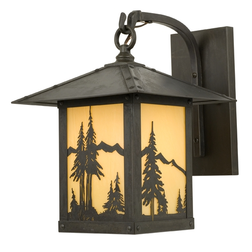 Arroyo Craftsman Lighting 13-Inch Outdoor Wall Light TRB-9MN-BZ-TN