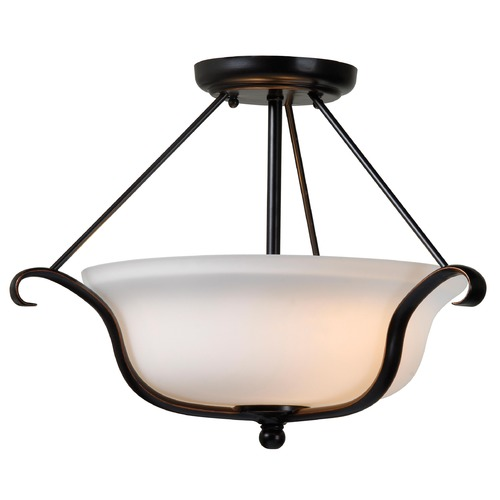 Kenroy Home Lighting Kenroy Home Lighting Basket Oil Rubbed Bronze Semi-Flushmount Light 93117ORB
