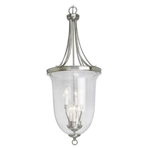 Progress Lighting Progress Bowl Pendant Light with Clear Seeded Glass P3754-09