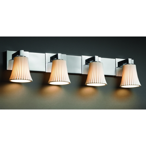 Justice Design Group Justice Design Group Limoges Collection Bathroom Light POR-8924-20-PLET-CROM