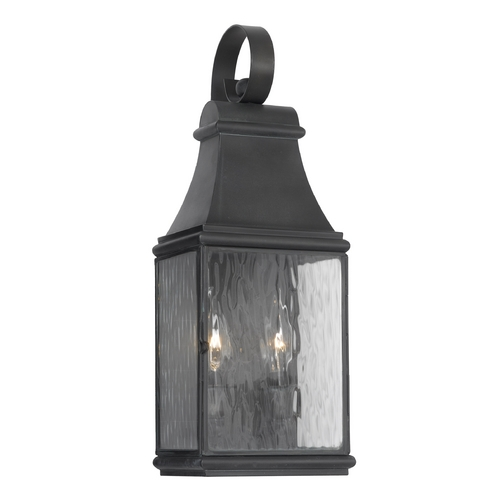 Elk Lighting Outdoor Wall Light with Clear Glass in Charcoal Finish 702-C