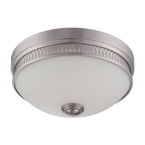 Nuvo Lighting LED Flushmount Light with White Glass in Brushed Nickel Finish 62/323