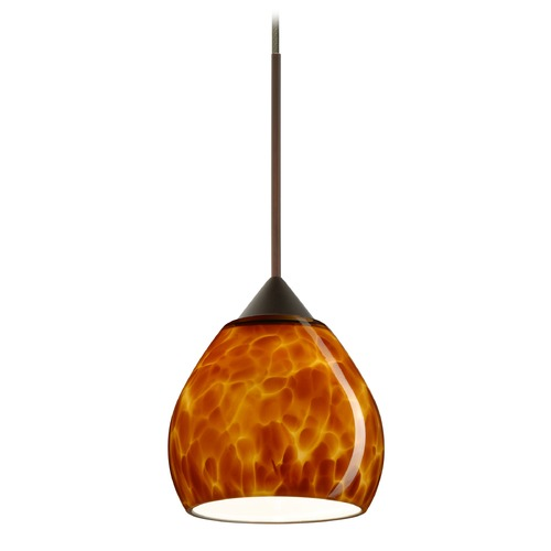 Besa Lighting Besa Lighting Tay Bronze LED Mini-Pendant Light with Bell Shade 1XT-560518-LED-BR