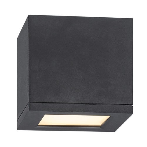 WAC Lighting WAC Lighting Rubix Black LED Close To Ceiling Light FM-W2505-BK