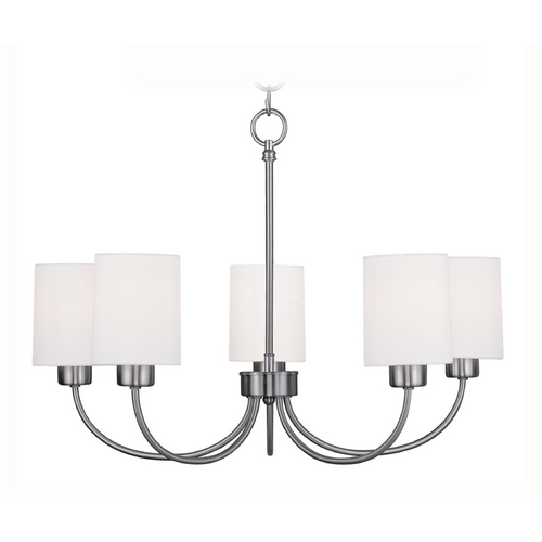 Livex Lighting Livex Lighting Sussex Brushed Nickel Chandelier 5265-91
