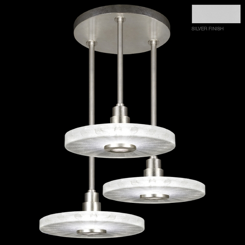 Fine Art Lamps Fine Art Lamps Crystal Bakehouse Silver Multi-Light Pendant with Drum Shade 823640-23ST