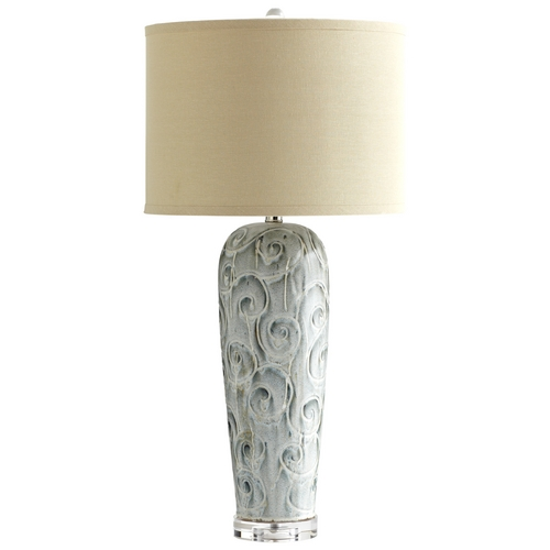Cyan Design Cyan Design Translation Blue Glaze Table Lamp with Drum Shade 05897-1