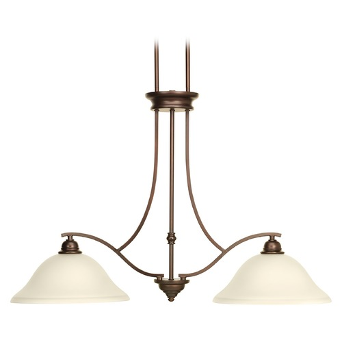 Progress Lighting Progress Lighting Spirit Antique Bronze Island Light with Bowl / Dome Shade P4558-20
