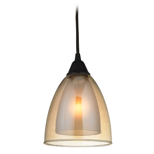 Elk Lighting Elk Lighting Layers Oil Rubbed Bronze Mini-Pendant Light with Bowl / Dome Shade 10474/1