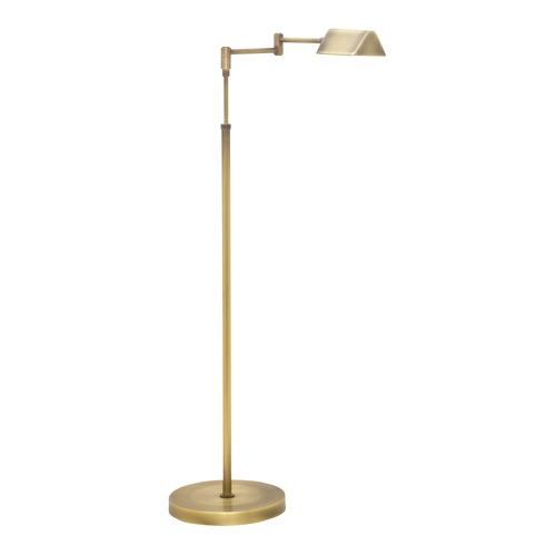 House of Troy Lighting House Of Troy Delta Antique Brass LED Swing Arm Lamp with Triangle Shade D100-AB