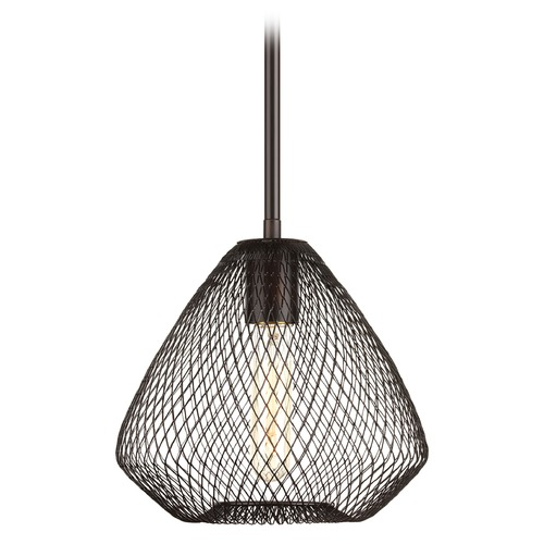 Progress Lighting Progress Lighting Mesh Antique Bronze Mini-Pendant Light with Bowl / Dome Shade P5337-20