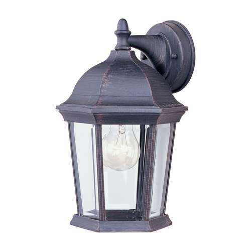 Maxim Lighting Outdoor Wall Light with Clear Glass in Rust Patina Finish 1024RP