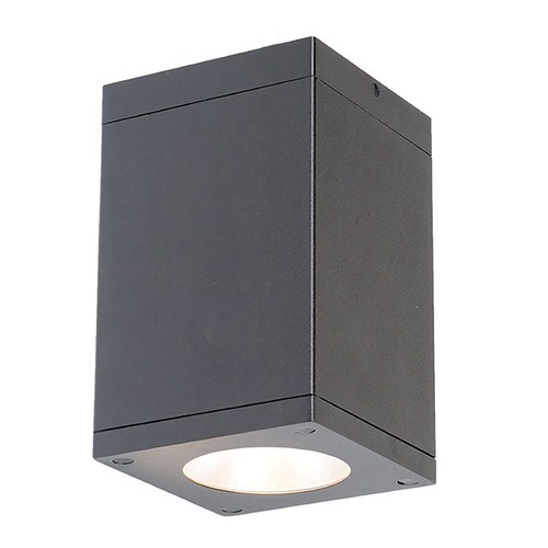 WAC Lighting Wac Lighting Cube Arch Graphite LED Close To Ceiling Light DC-CD05-N830-GH