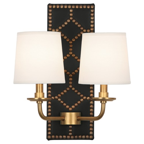 Robert Abbey Lighting Robert Abbey Lighting Williamsburg Lightfoot Wall Sconce with Fondine Fabric Shades 1035