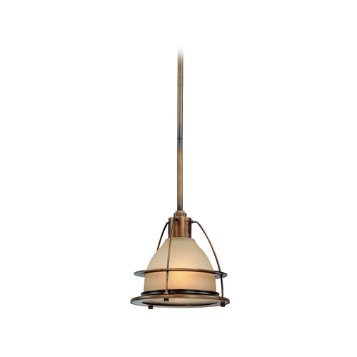 Troy Lighting Mini-Pendant Light with Amber Glass F2056SBZ