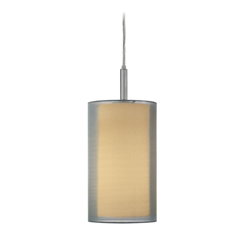 Sonneman Lighting Modern Mini-Pendant Light with Silver Shade 6007.13F