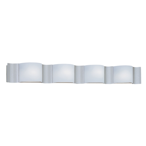 Designers Fountain Lighting Modern Bathroom Light with White Glass in Silver Sand Finish 4564-SI