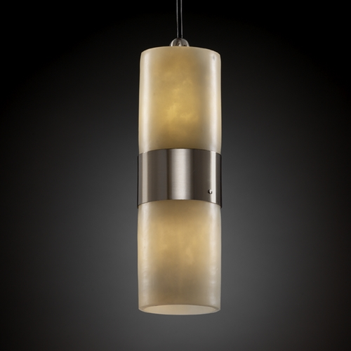 Justice Design Group Justice Design Group Clouds Collection Mini-Pendant Light CLD-8758-10-NCKL