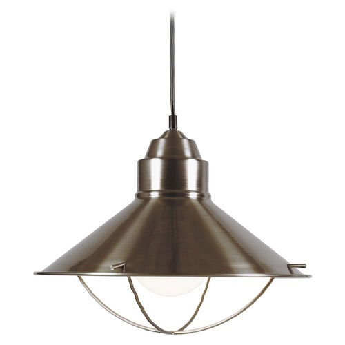 Kenroy Home Lighting Nautical Pendant Light in Brushed Steel Finish 66349BS