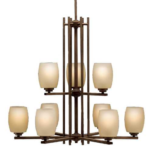 Kichler Lighting Kichler Eileen 2-Tier 9-Light Chandelier in Olde Bronze 1897OZ