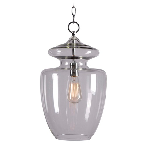 Kenroy Home Lighting Kenroy Home Lighting Apothecary Chrome Pendant Light with Urn Shade 93037CLR