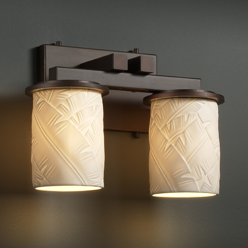 Justice Design Group Justice Design Group Limoges Collection Bathroom Light POR-8772-10-BANL-DBRZ