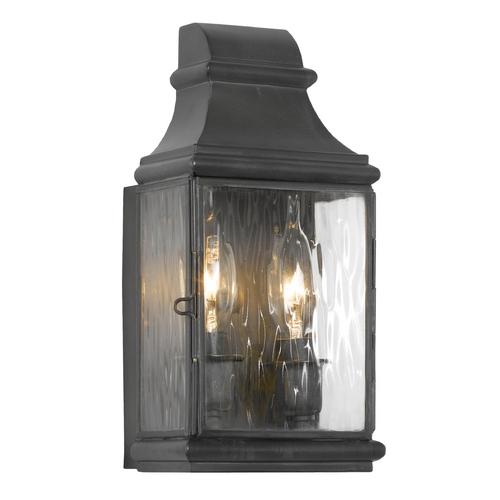 Elk Lighting Outdoor Wall Light with Clear Glass in Charcoal Finish 701-C