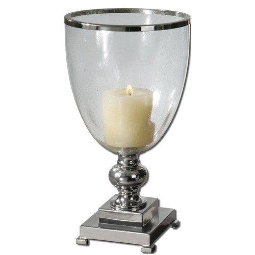 Uttermost Lighting Uttermost Lino Clear Glass Candleholder 19718