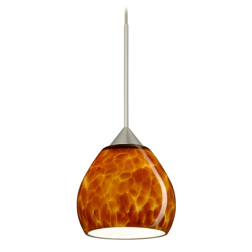 Besa Lighting Besa Lighting Tay Satin Nickel LED Mini-Pendant Light 1XT-560518-LED-SN