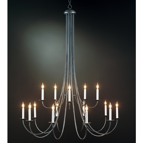 Hubbardton Forge Lighting Hubbardton Forge Lighting Simple Lines Natural Iron Chandelier 19104-315LC-20-CTO