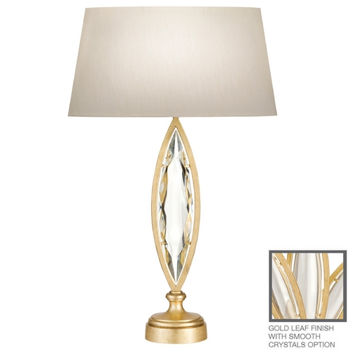 Fine Art Lamps Fine Art Lamps Marquise Florentine Brushed Gold Leaf Table Lamp with Oval Shade 850210-21ST