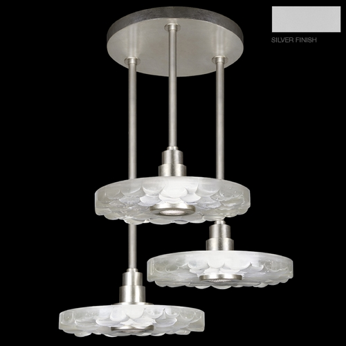 Fine Art Lamps Fine Art Lamps Crystal Bakehouse Silver Multi-Light Pendant with Drum Shade 823640-24ST