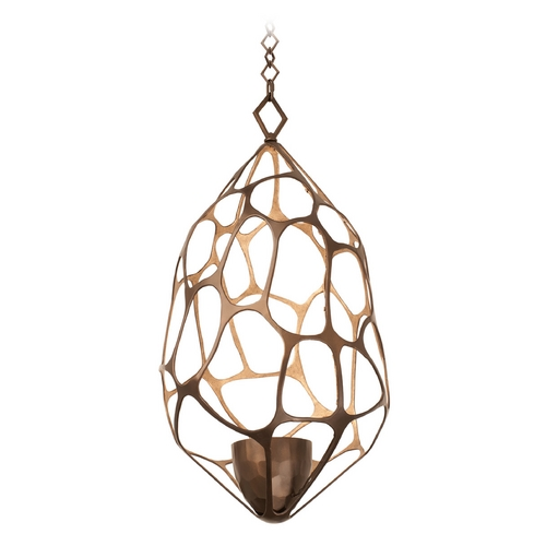 Kalco Lighting Kalco Lighting Fossil Bronze Gold Pendant Light 6560BZG