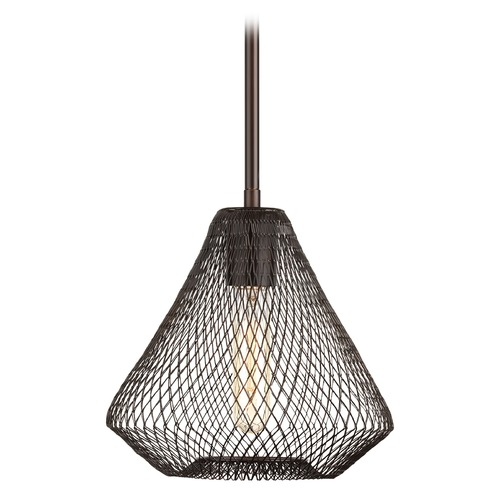 Progress Lighting Progress Lighting Mesh Antique Bronze Mini-Pendant Light with Bowl / Dome Shade P5338-20