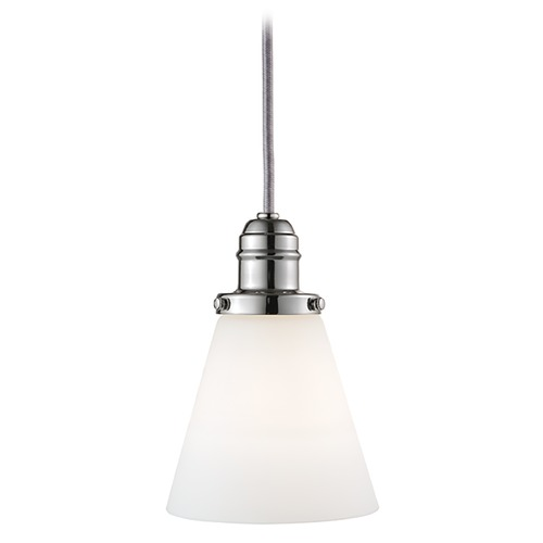 Hudson Valley Lighting Mini-Pendant Light with White Glass 3101-PN-505M
