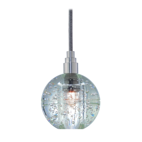 Hudson Valley Lighting Modern Mini-Pendant Light with Clear Glass 3506-SN-S-001