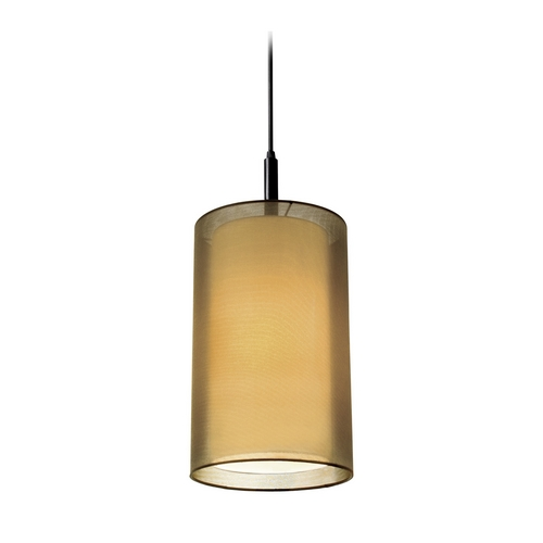 Sonneman Lighting Modern Mini-Pendant Light with Brown Shade 6007.51F