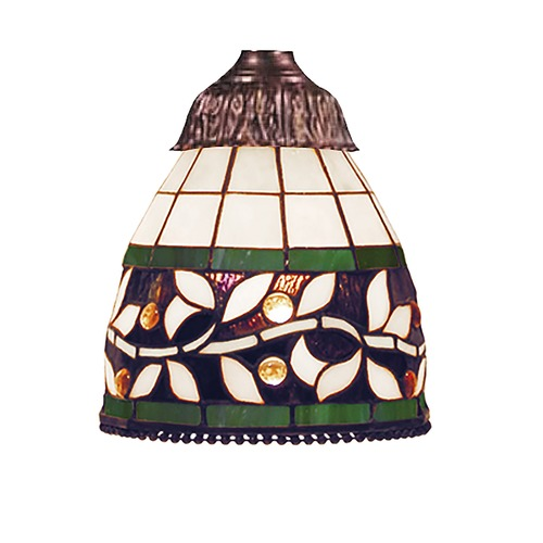 Elk Lighting Bell Tiffany Glass Shade - 2-1/4-Inch Fitter Opening 999-13