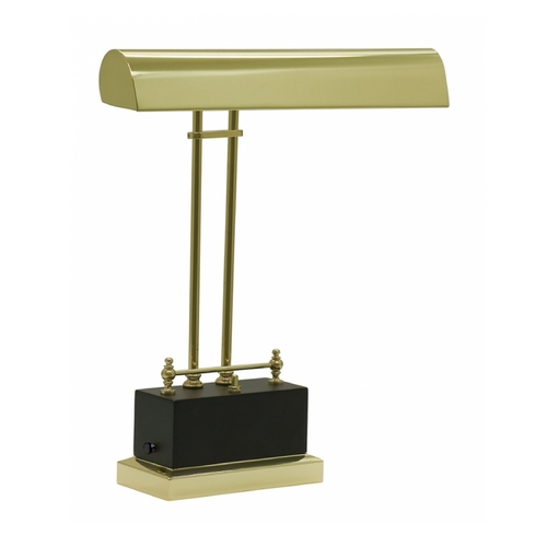 House of Troy Lighting LED Piano / Banker Lamp in Black & Brass Finish BPLED200-617