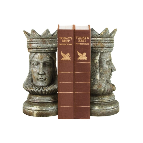 Sterling Lighting King and Queen Decorative Chess Bookend Set 93-1160