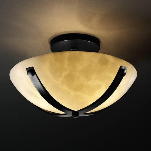Justice Design Group Justice Design Group Clouds Collection Semi-Flushmount Light CLD-8760-35-MBLK