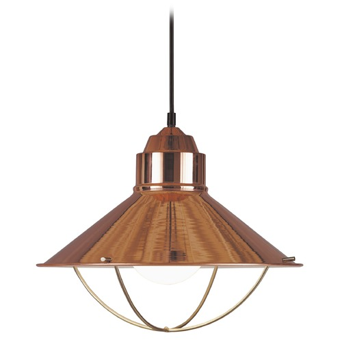 Kenroy Home Lighting Nautical Pendant Light in Copper Finish 66349COP
