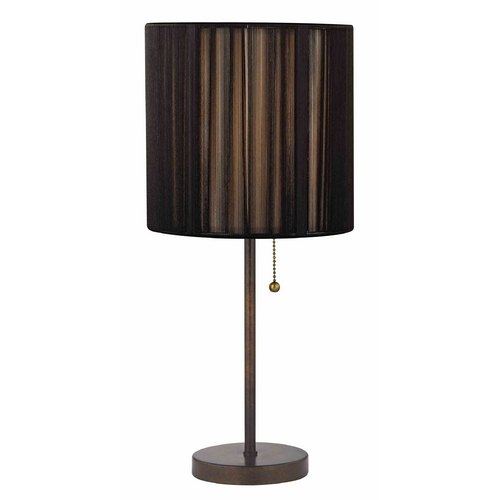 Design Classics Lighting Table Lamp with Black Shade in Remington Bronze Finish 1900-604 SH9531