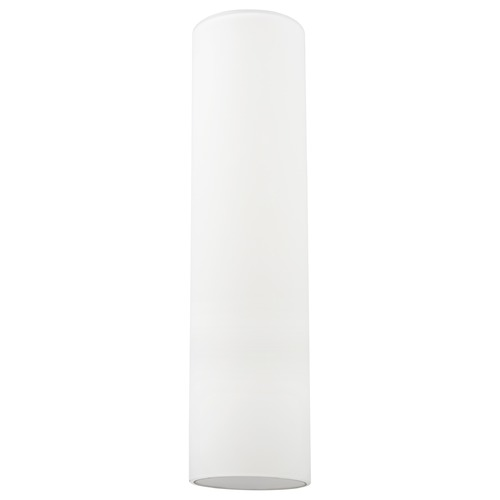 Design Classics Lighting 16-Inch Tall Cylinder White Glass Shade with 1-5/8 Fitter GL1628C