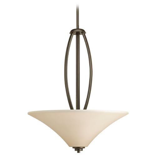 Progress Lighting Progress Pendant Light with Brown Glass in Antique Bronze Finish P3951-20