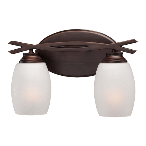 Minka Lavery Bathroom Light with White Glass in Dark Brushed Bronze Finish 6952-267B