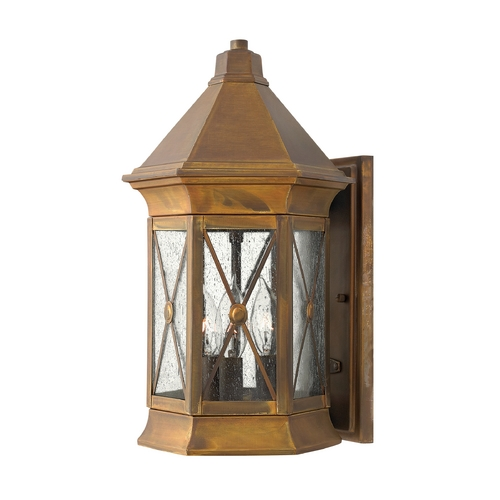 Hinkley Lighting LED Outdoor Wall Light with Clear Cage Shade in Sienna Finish 2294SN-LED